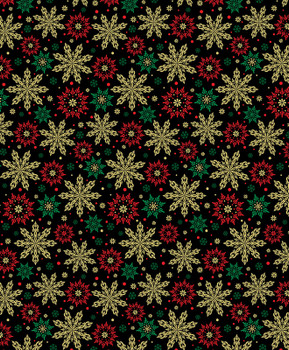 Benartex - Merry & Bright - Multi Snowflakes - 8799M/12
