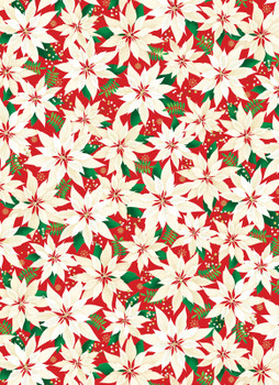 Benartex - Merry & Bright - Poinsettias - 8797M/10