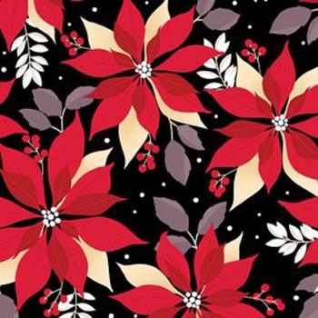 Benartex - Winter Games - Poinsettias - 8622/12