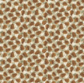 Benartex - Winter Wonderland - Pinecones - 4653/70
