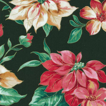 Fabri-Quilt - Holiday Editions - Poinsettias - 114/75016