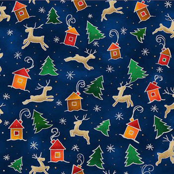 Fabri-Quilt - Season's Greetings - Up Up and Away - 10318/00923