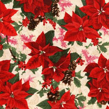 RJR - Merry Berry & Bright - Tossed Poinsettias - 3151/2