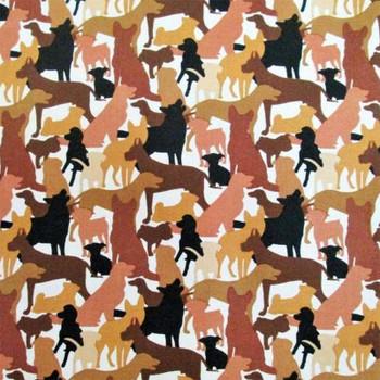 Dog Breeds - Dog Silhouttes - Brown