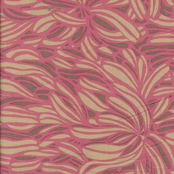 Leutenegger - Day Dreaming - Leaves - Coral/Pink
