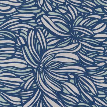 Leutenegger - Day Dreaming - Leaves - Blue/Grey