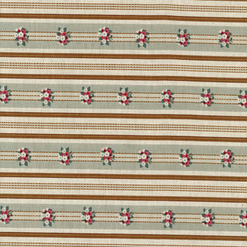 Leutenegger - La Fauvette - Floral Stripes - Sage