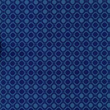Leutenegger - Romantic Rebel - Geometric Cirlces - Navy/Blue