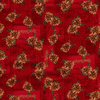 Washington Street Studios - Christmas Memories - Pine Cones - Red