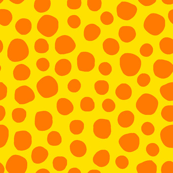 River's Bend - Critter Town - Large Dots - Yellow/Orange