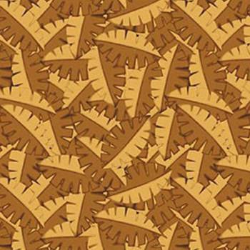 Benartex - Dino Age - Packed Ferns - Brown