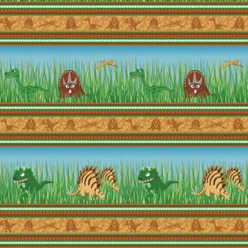 Benartex - Dino Age - Dinosaur Stripes - Multi