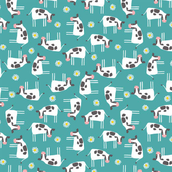 Studio E - Wildflower Farm - Cows - Turquoise