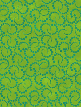River's Bend - Twist and Shout - Spiral Dots - Green