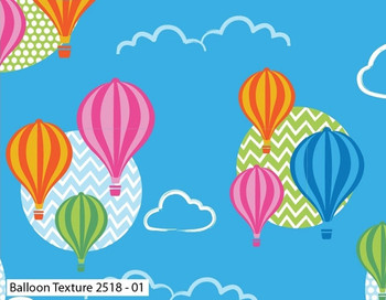 Craft Cotton Co - Hot Air Balloons - Texture - Multi