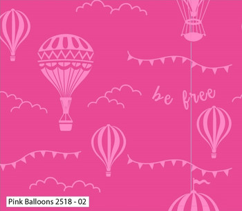 Craft Cotton Co - Hot Air Balloons - Balloons - Pink