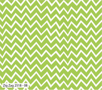Craft Cotton Co - Hot Air Balloons - Zig Zag - Green