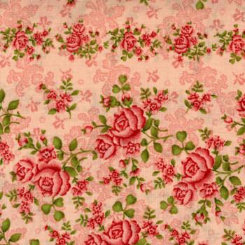 Benartex - Homestead Wide - Climbing Roses - Pink