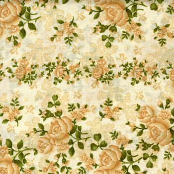 Benartex - Homestead Wide - Climbing Roses - Cream