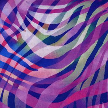 Henry Glass - Zebra Skin - Purple/Multi