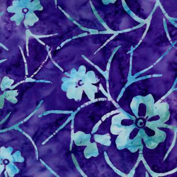 Benartex - Rio Batiks - Purple/Aqua