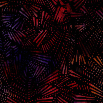 RJR - Malam Batiks V - Black/Red