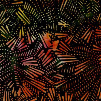 RJR - Malam Batiks V - Black/Orange