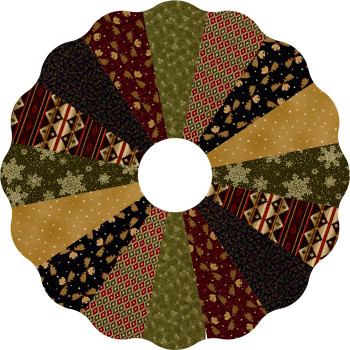 Moose Lodge Xmas Dresden Tree Skirt