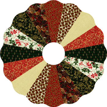Holly & Pinecones Dresden Tree Skirt