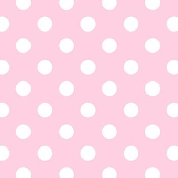 David Textiles - Fleece Prints - Polka Dots - Pink