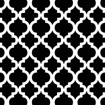 David Textiles - Fleece Prints - Bella Trellis - Black/White