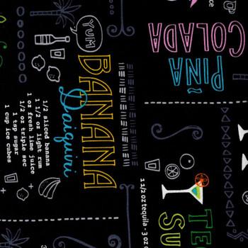 Benartex - Happy Hour 3 - Drink Recipes - Black