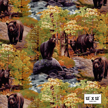 Elizabeth's Studio - Ursus Americanus - Bears Allover - Multi