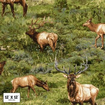 Fabri-Quilt - Born Free - Elk Allover - Multi