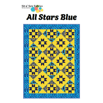 Tonka - All Stars - Blue - Ready-to-Sew Quilt Kit