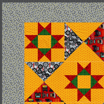 Tonka - All Stars - Red - Ready-to-Sew Quilt Kit