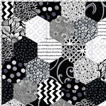 Black and White Hexies Quilt Kit