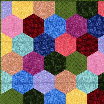 Sit n' Sew - Q Stash - Hexies Quilt Kit 1