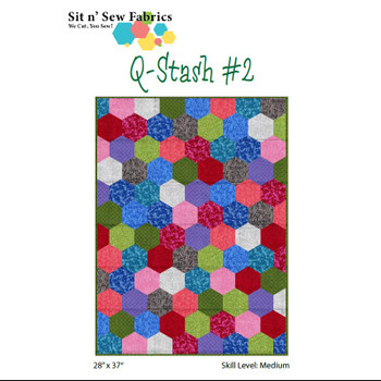 Sit n' Sew - Q Stash - Hexies Quilt Kit 2