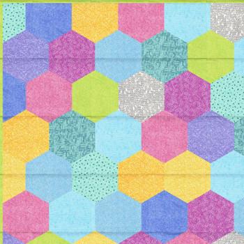 Sit n' Sew - Q Stash - Hexies Quilt Kit 3
