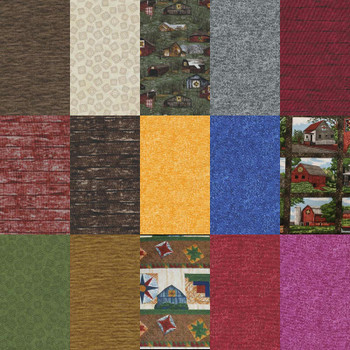 River's Bend - Quilt Trails - 2.5'' Squares