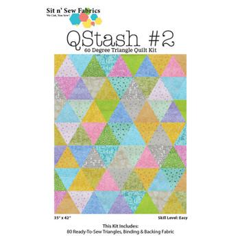 Q Stash 60 Degree Triangle Quilt Kit #2