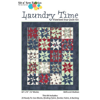 Laundry Time Pinwheel Star Quilt Kit