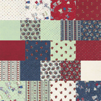 River's Bend - Vintage Vogue Laundry - 5'' Diamonds/42PC - Multi