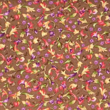 RJR - Katherine Ann - Floral Allover - Brown/Multi