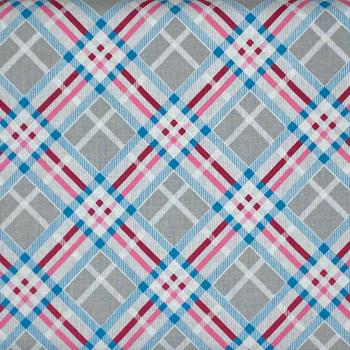 RJR - Vintage Made Modern - Diagonal Plaid - Grey