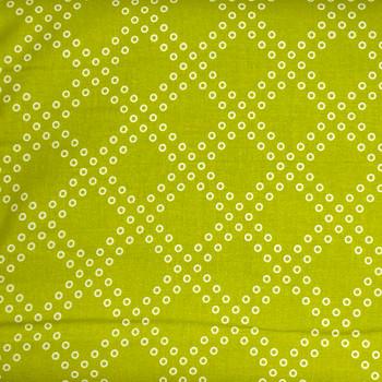 RJR - Mochi - Diagonal Dot Trellis - Lime