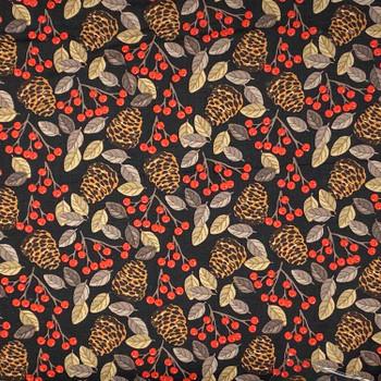 Studio E - Snow Delightful - Pinecones & Berries - Black