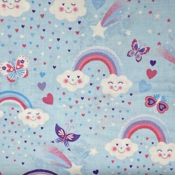 Studio E - Unicorn Kisses - Rainbows & Butterflies - Lt Blue