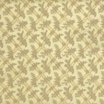 P & B Textiles - Signature Pat - Checked Ferns - Tan
